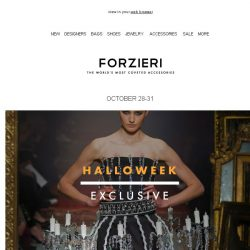 [Forzieri] Halloweek Scary Cool Vip-SALE - 3 Days Only
