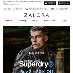 [Zalora] Last Day: Superdry buy 4 for 35% off!