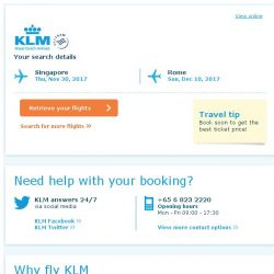 [KLM] Still interested in travelling to Rome?