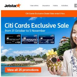 [Jetstar] Citi Cards Exclusive Sale! Okinawa, Bangkok and more on sale.