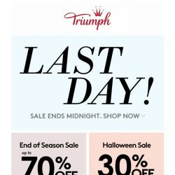 [Triumph] Last Day To Enjoy The Exclusive Sale!