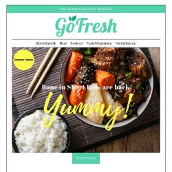 [GoFresh] GoFresh Flash Sale: 15% off on selected products. Bone in Short Ribs in store now! Loved by all!