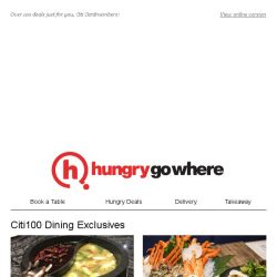 [HungryGoWhere] 15% Off Total Bill, $50 Return Dining Voucher, & more for Citi Cardholders to enjoy!