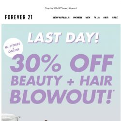 [FOREVER 21] 💄 LAST DAY for 30% OFF 💄