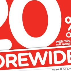 Watsons: Enjoy STOREWIDE 20% OFF with Min. $38 Spend + 6% Cash Rebate In Stores & Online