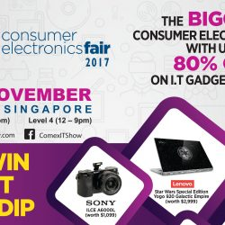 Suntec Singapore: Consumer Electronics Fair 2017 with Up to 80% OFF I.T Gadgets