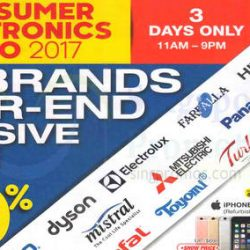 Singapore Expo: Consumer Electronics Expo 2017 with Up to 90% OFF