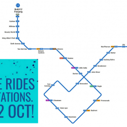FREE MRT Rides on Entire Downtown Line on 21 & 22 October 2017