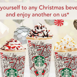 Starbucks: Enjoy 1-for-1 Treat on any Christmas Beverage!