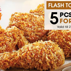 KFC: Enjoy 5 Pieces of Hot & Cheesy Chicken for Just $10!