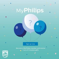 [Philips] Become a MyPhilips member now and receive 1 out of 3 mystery gifts* when you're at the Philips Carnival