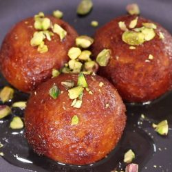 [Courts] Gulab jamun is a popular Indian-style donut that is drenched in sugar syrup.