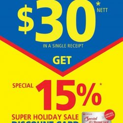 [POPULAR Bookstore] Get your special 15% Super Holiday Sale discount card when you spend a minimum of $30 nett in a single