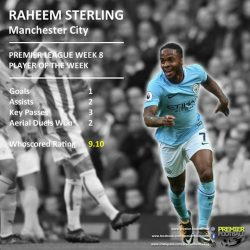 [Premier Football Singapore] Raheem Sterling was the standout performer in Man City's brilliant 7-2 win against Stoke.