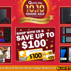 [GAME XTREME] Qoo10 10/10 Grand Sale【PROMO DURATION】 8/10/17 - 10/10/17【DETAILS】 Did you kow we have an