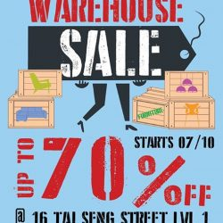 [Lifestorey] Lifestorey will be having a Warehouse Sale at  with over 100 great deals, up for
