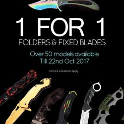 [Caesars] 1 for 1 Folders & Fixed Blades Promotion.