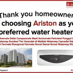 [Ariston] We can never thank you enough, homeowners of these estates.