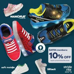 [Stride Rite/Petit Bateau] From NOW till 31 Dec 2017, SAFRA members get to enjoy 10% OFF on ALL regular-priced shoes and socks