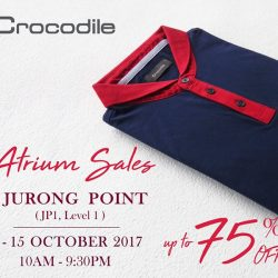 [Crocodile] Back by popular demand, starting from 09th - 15th October 2017 at Jurong Point Shopping Mall, JP1 Level 1.