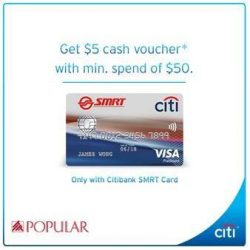 [POPULAR Bookstore] Time to go shopping with your Citibank SMRT Credit Card @ POPULAR!