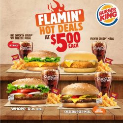 [Burger King Singapore] Check out the latest addition to our Flamin' Hot Deals menu… the good ol' Cheeseburger!