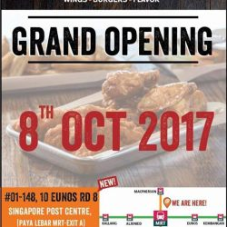 [Wing Zone Singapore] Come on down to our newest outlet at SingPost Centre (Paya Lebar MRT) from 11am onwards (08 Oct) and get