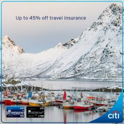 [Citibank ATM] Get ready for a magical winter vacation with complete peace of mind and save up to 45% off single trip