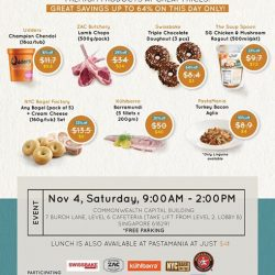 [Swissbake] Make grocery shopping fun during the school holidays when you join us for November's Factory Sale!