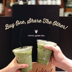 [Nana's Green Tea] Hype up for 3 days of ONE FOR ONE matcha latte promotion!