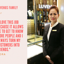 [Luvenus] Introducing Nora, a welcoming and patient lady who serves with one ultimate goal - to turn all her customers into friends.