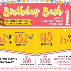 [Sasa Singapore] Join our Birthday Party at Sasa Clifford Centre!