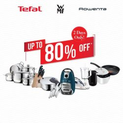 [Tefal] Enjoy up to 80% OFF* on Tefal, WMF and Rowenta products!