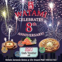 [City Square Mall] Watami Japanese Casual Restaurant Singapore's Stamp Card Promotion is back!