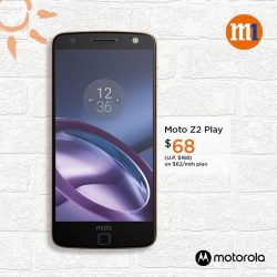 [M1] Enjoy $100 off Moto Z when you sign up or re-contract on our 2-year smartphone plan.