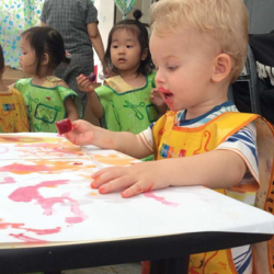 [The Little Skool-House] We did a lovely summer day art activity with the children recently - ice popsicle painting.