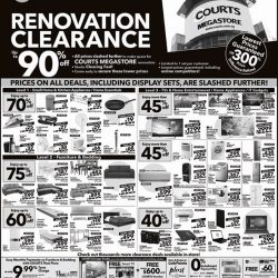 [Courts] COURTS Renovation Clearance up to 90% off.