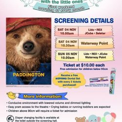 [Shaw Theatres] Join us for Movies with the Little Ones on 4 & 5 November.