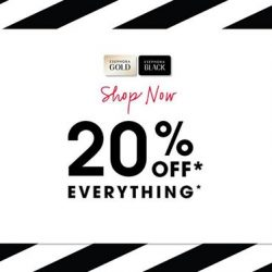 [SEPHORA Singapore] SephoraPrivateSale2017: Sephora Gold and Black Members, enjoy 20% off EVERYTHING online now and in stores 9am onwards!