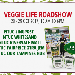 [Panasonic] Enjoy the freshest and healthiest greens when you drop by at our Veggie Life roadshows this weekend!