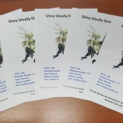 [GameMartz] These Pokemon Shiny Silvally codes will be giving out to customers who pre-order Pokemon Ultra Sun or Pokemon Ultra