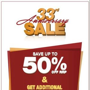 [Sportslink] Sportslink will kickoff the 33rd Anniversary Sale very soon(*From today, 28 Oct 2017 onwards)!