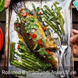 [THE SEAFOOD MARKET PLACE BY SONG FISH] Roasted Barramundi Asian StyleSkip the deep-fryer, get it roasted instead.