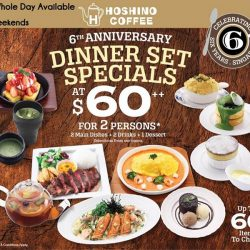 [Hoshino Coffee Singapore] 6th Anniversary Set Specials is now available the whole day on weekends!