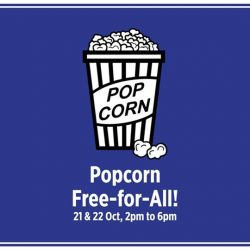 [Eastpoint Mall] Fuel up for that epic shopping spree with FREE popcorn this weekend!
