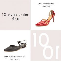 [Heatwave] Styles that flatter your sole - we love how the pointed tips and strappy details of our Carla D'Orsay Heels