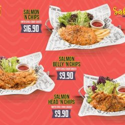 [The Manhattan FISH MARKET Singapore] Who's up for some FREE Salmon Belly 'n Chips with their buddy?
