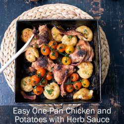 [THE SEAFOOD MARKET PLACE BY SONG FISH] Easy One-Pan Chicken and Potatoes with Herb SauceWe love fuss-free meals and this one makes it another