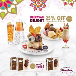 [Haagen-Dazs] Treat yourself to our Stick Bars this Deepavali with our Buy 2 Get 1 promotion!