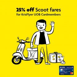 [UOB ATM] Get 25% off your Scoot fares to 52 destinations - including your favourite holiday getaways such as Athens, Perth and Langkawi.